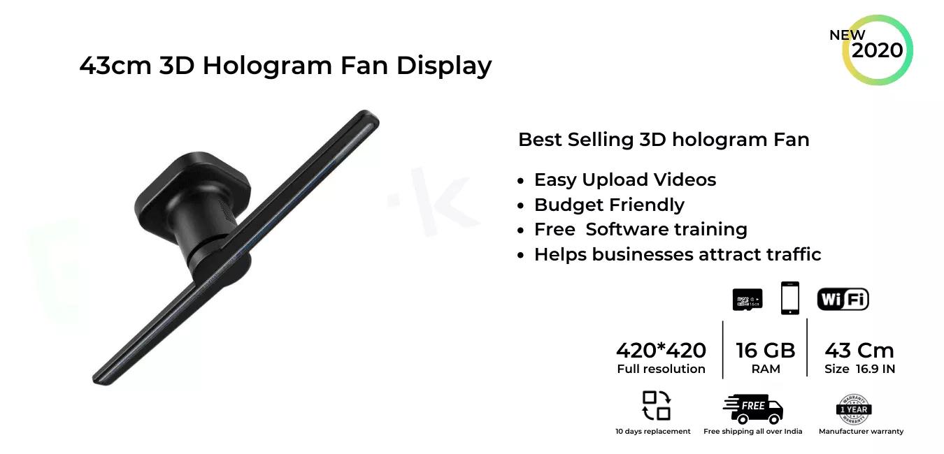 3d hologram fan display in chennai