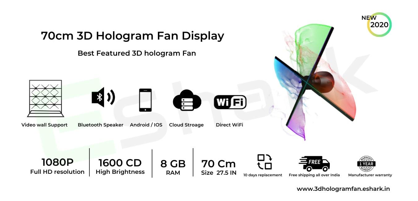 70cm hologram LED display