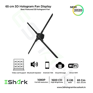 3d hologram fan display 65cm with video wall support
